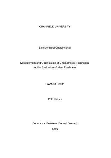 CRANFIELD UNIVERSITY Eleni Anthippi Chatzimichali ...