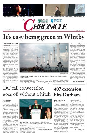 It's easy being green in Whitby - Digilog at UOIT and DC - Durham ...