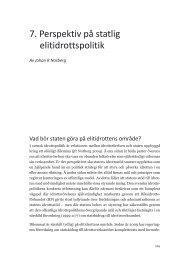 7. perspektiv på statlig elitidrottspolitik