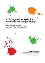 är könsneutral design möjlig? - Malmö högskola
