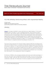 FCJ-150 AffeXity: Performing Affect with Augmented Reality