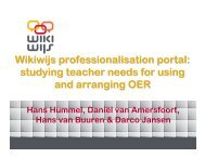 Wikiwijs professionalisation portal - DSpace at Open Universiteit