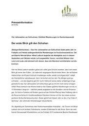Presseinformation Wanderwochen - Vier Jahreszeiten