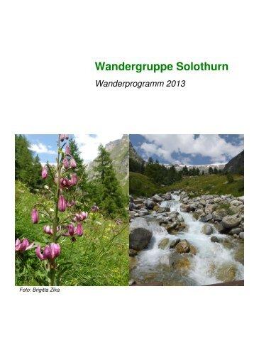 Wanderprogramm_Solothurn_ 2013 - Pro Senectute Solothurn
