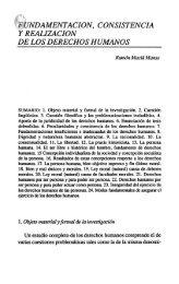FUNDAMENTACION, CONSISTENCIA Y REALIZACIÓN DE LOS ...
