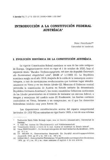 INTRODUCCIÓN A LA CONSTITUCIÓN FEDERAL