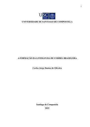 a formação da literatura de cordel brasileira - Repositorio ...