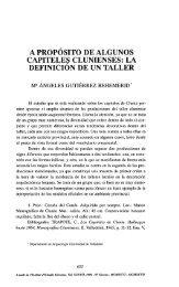 A PROPOSITO DE ALGUNOS CAPITELES CLUNIENSES: LA ...