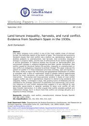 Land tenure inequality, harvests, and rural conflict ... - e-Archivo
