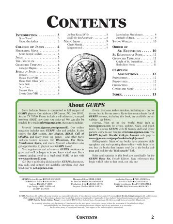 Preview of the PDF - e23 - Steve Jackson Games