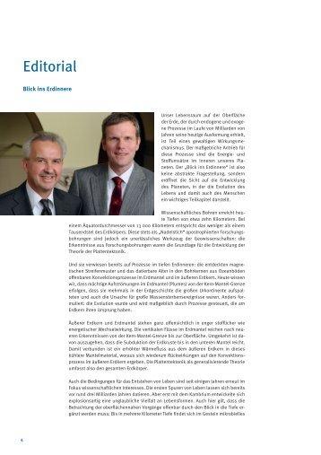 Editorial - E-Books Deutsches GeoForschungsZentrum GFZ