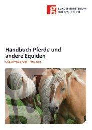 Handbuch Pferde - Bundesministerium für Gesundheit
