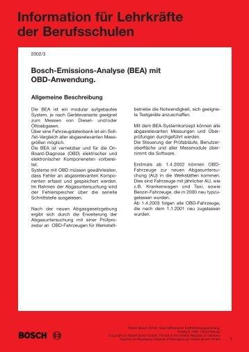 Information für Lehrkräfte  der Berufsschulen - Bosch