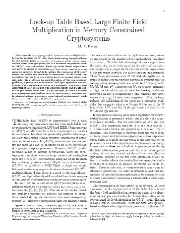 Look-up Table-Based Large Finite Field Multiplication in Memory ...