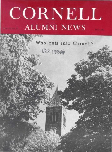 ALUMNI NEWS - eCommons@Cornell - Cornell University