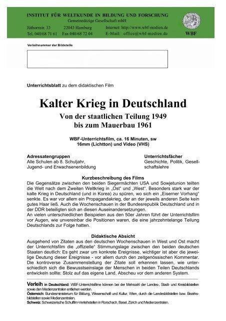 Kalter Krieg In Deutschland
