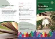 Flyer Tor zur Bibel 2014 - Waldkirche Obertshausen