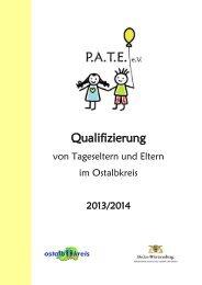 Qualifizierungsbroschüre 2013/2014 - PATE eV