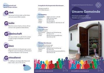 Flyer: Unsere Gemeinde - Waldkirche Obertshausen