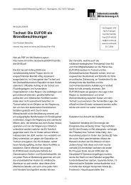 Tschad: Die EUFOR als Brandbeschleuniger