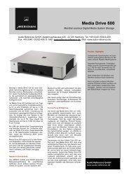 Meridian's Media Drive 600 ist eine kom-plette Speicherungslösung ...