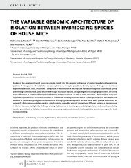 the variable genomic architecture of isolation between hybridizing ...