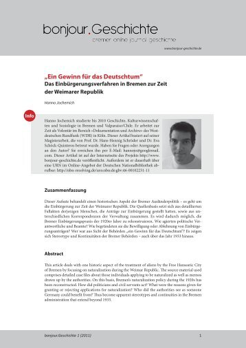 """""""Ein Gewinn für das Deutschtum"""" - E-LIB"""