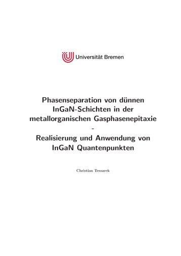 Phasenseparation von dünnen InGaN-Schichten in der ...
