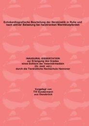 Echokardiografische Beurteilung der Herzkinetik in Ruhe und nach ...
