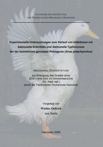 Bibliografische Informationen der Deutschen - TiHo Bibliothek elib ...