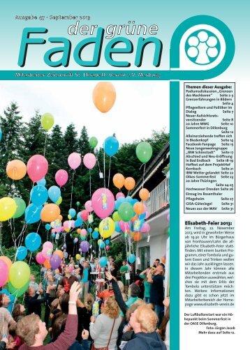 Faden 47 (pdf) - St. Elisabeth-Verein e.V.