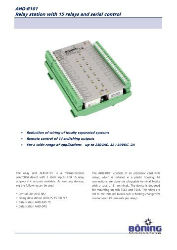 AHD-R101 Relay station with 15 relays and serial control