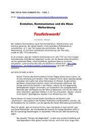DIE NEUE WELTORDNUNG – TEIL 1 - Die Endzeit-Reporter