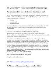 Die Freimaurer und ihre Verbindung zum Islam und zum ...