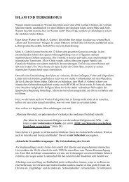 ISLAM UND TERRORISMUS - Die Endzeit-Reporter