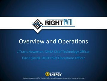 Overview and Operations - U.S. Department of Energy