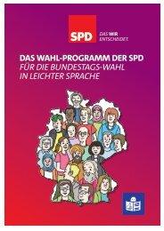Das Wahl-Programm der SPD für die Bundestags-Wahl in Leichter ...
