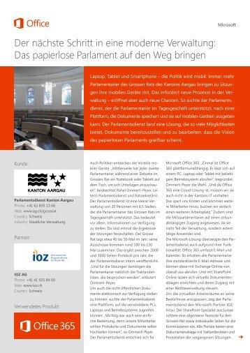 Case Study Parlamentsdienst - IOZ AG