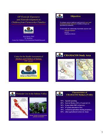 OP Pesticide Exposures and Neurodevelopment in Children from ...