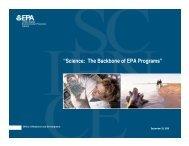 """Science: The Backbone of EPA Programs"" - US Environmental ..."