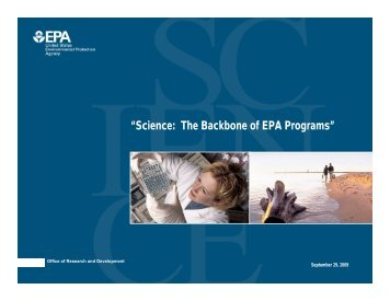 """Science: The Backbone of EPA Programs"" - US Environmental ..."