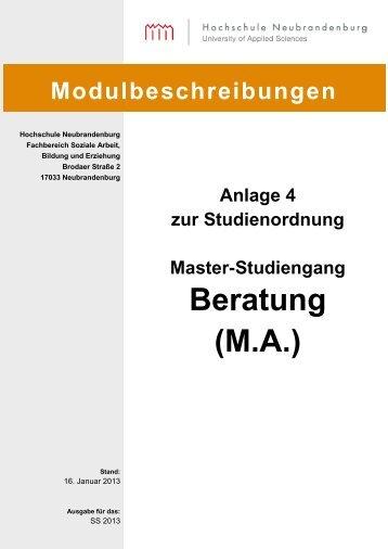 Modulbeschreibung - Hochschule Neubrandenburg
