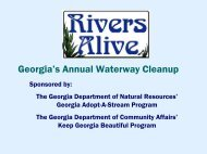 Rivers Alive: Georgia's Annual Waterway Cleanup