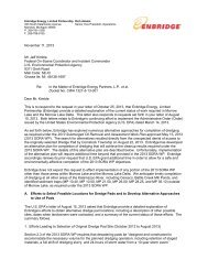 Enbridge request for extension for Morrow Lake and Morrow Lake ...