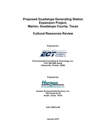 Guadalupe Generating Station Final Cultural Resourse Report - US ...