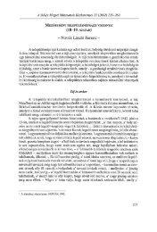 A Békés Megyei Múzeumok Közleményei 23. (Békéscsaba ... - EPA