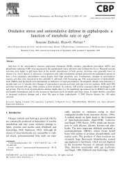 Oxidative stress and antioxidative defense in ... - ePIC - AWI