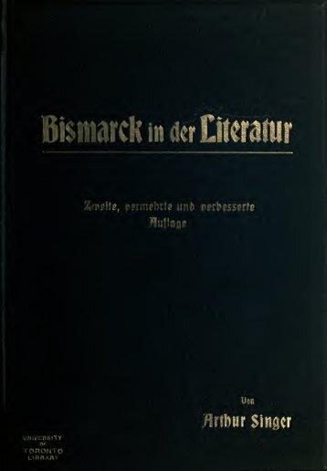 Bismarck in der Literatur - booksnow.scholarsportal.info