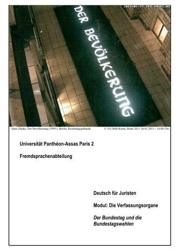 Der Bundestag und die Bundestagswahlen
