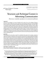 Structures and Archetypal Content in Advertising Communication